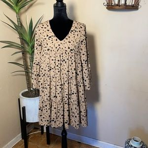 &Merci brown and black spotted Dress